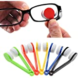 LERORO 12 Pcs Mini Sun Glasses Eyeglass Microfiber Spectacles Cleaner Soft Brush Cleaning Tool Mini Microfiber Glasses Eyegla