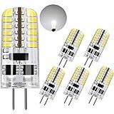 DiCUNO G4 LED Light Bulb, 6-Pack, 3 Watt, Non-dimmable, 230 Lumen, Daylight White 6000K, 12 Volt, 20-25W Equivalent, T3 Base