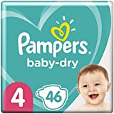 Pampers Baby-Dry Tape Diapers (9kg-14kg) Size 4 Toddler, 46 count