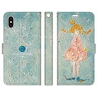 iPhoneXS Max 手帳型 ケース カバー 金星少女 よう 月 宇宙 少女 旅 おしゃれ イラスト デザイナー 地球