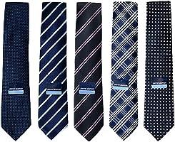 (ピエールタラモン) Pierre Talamon メンズ ビジネス ジャガード織 ネクタイ 5本セット 8cm ネクタイ ストライプ ドット 小紋 柄