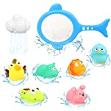 Barwa Baby Bath Toys Baby Fun Floating Bath Toy Cartoon Earth & Marine Animals Bathtub Shower Toys for Kids - Fun Learning &