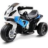RIGO Kids Ride On Car Toy Motorbike Motorcycle Police Car-Blue