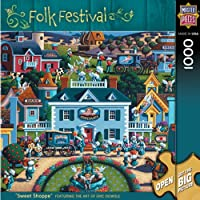 MasterPieces Sweet Shoppe 1000 Piece Puzzle Folk Festival Collection by MasterPieces