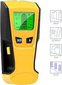 Besline 壁探知 下地センサー下地探し デジタル壁検出器 壁うらセンサー 自動校正機能 LCD 金属/木材/スタッド/AC送電線の位置探知 大型LCDスクリーン 高精度