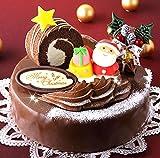 ロールノセタ 6号サイズのクリスマスケーキ【 12/22?12/23】のお届け  昭和風味 チョコレートケーキ