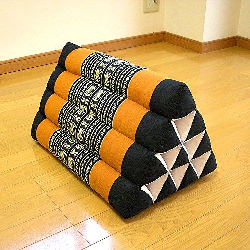 [해외]태국 삼각 베개 (매트 없음) 의자 쿠션 코끼리 무늬 아시안 잡화 병행 수입품 노 명품 [병행 수입품]/Thai triangular pillow (without mat) cushion elephant pattern Asian sundry goods parallel import goods no brand goods [parallel import g...