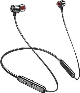 【令和最新版 Qualcomm Bluetooth 5.0 IPX7完全防水】Bluetooth イヤホン スポーツワイヤレスイヤホン 10時間連続再生 マグネット搭載 SBC&AAC対応 マイク内蔵 ランニング用 ハンズフリー通話 二台接続可能 CVC8.0ノイズキャンセリング搭載 自動ペアリング EVIO 運動 ブルートゥース イヤホン Siri対応 iPhone/ipad/Android適用