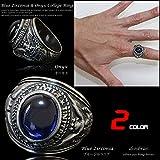カレッジリング シルバーリング カレッジリング ブルージルコニア オニキス シルバーアクセサリー メンズ シルバーリング 指輪 シルバー925 メンズアクセサリー シルバー925 シルバーリング メンズ スターリングシルバー 指輪 ring silver925 銀 男性 女性 レディース