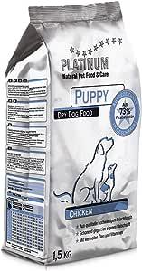 プラチナム ナチュラル ドッグフード : チキン (1.5kg袋) 無水調理ドライフード (グルテンフリー) 子犬(パピー)用