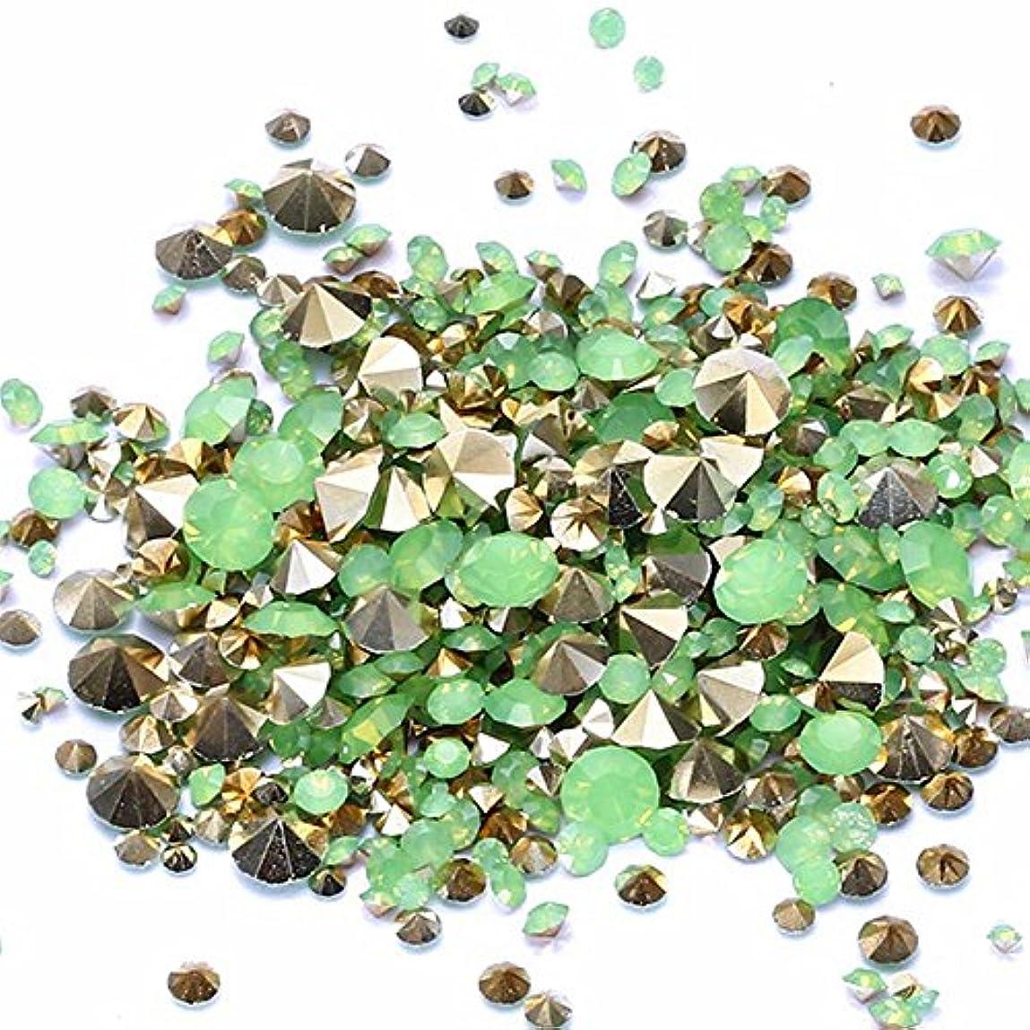 隣人決定的強いNiziジュエリー大きな袋混合サイズグリーンオパール樹脂ラインストーンは、ビーズの上に接着剤を指します宝石ダイヤモンドジュエリーDIYネイルアートウェディングドレスの装飾