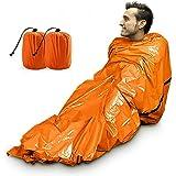 2PS Emergency Sleeping Bag Emergency Survival Sleeping Blanket PE Emergency Sleeping Blanket Lightweight Sleeping Blanket Med