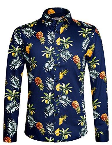 APTRO 花柄ワイシャツ