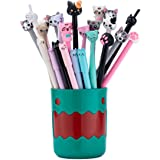RECHENG Retractable Gel Pens Creative Gel Pens Quick-dry pen,Ball fans Feast,fun pens gel pens cute pen,Feasterfect for Offic