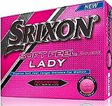 SRIXON(スリクソン) ゴルフボール Soft Feel Lady Soft Feel Lady (ソフト フィール レディー) ゴルフボール 2ピース構造 2016年モデル 並行輸入品 (1ダース)   パッション ピンク