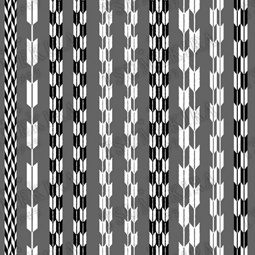 好奇心盛アッパーぼんやりしたTSUMEKIRA(ツメキラ) ネイルシール 矢絣 ブラック?ホワイト NN-TEX-201
