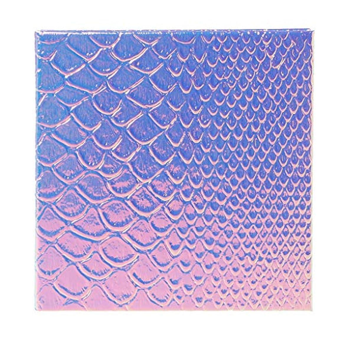 流ルールなくなるLamdoo魚スケール空磁気化粧パレットdiyアイシャドーコンシーラーケースホルダー - 2#