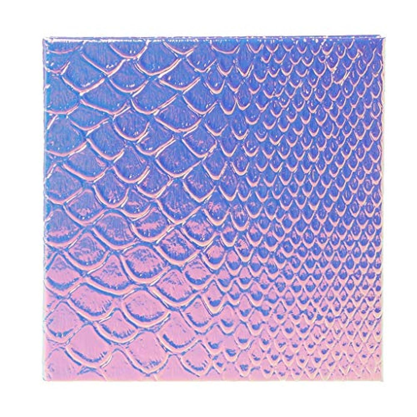 分析的な究極のご近所Lamdoo魚スケール空磁気化粧パレットdiyアイシャドーコンシーラーケースホルダー - 2#