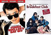 The Breakfast Club & Ferris Bueller's Day Off Fun Comedy 80's High School Teen movie bundle Set