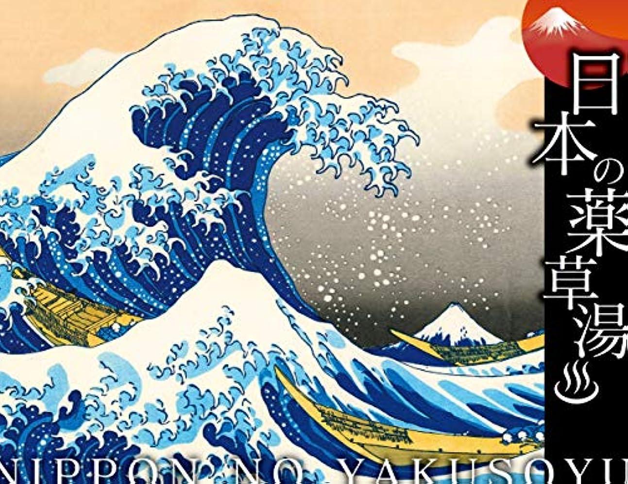 急勾配のベルずんぐりした日本の薬草湯 神奈川沖浪裏(富嶽三十六景)