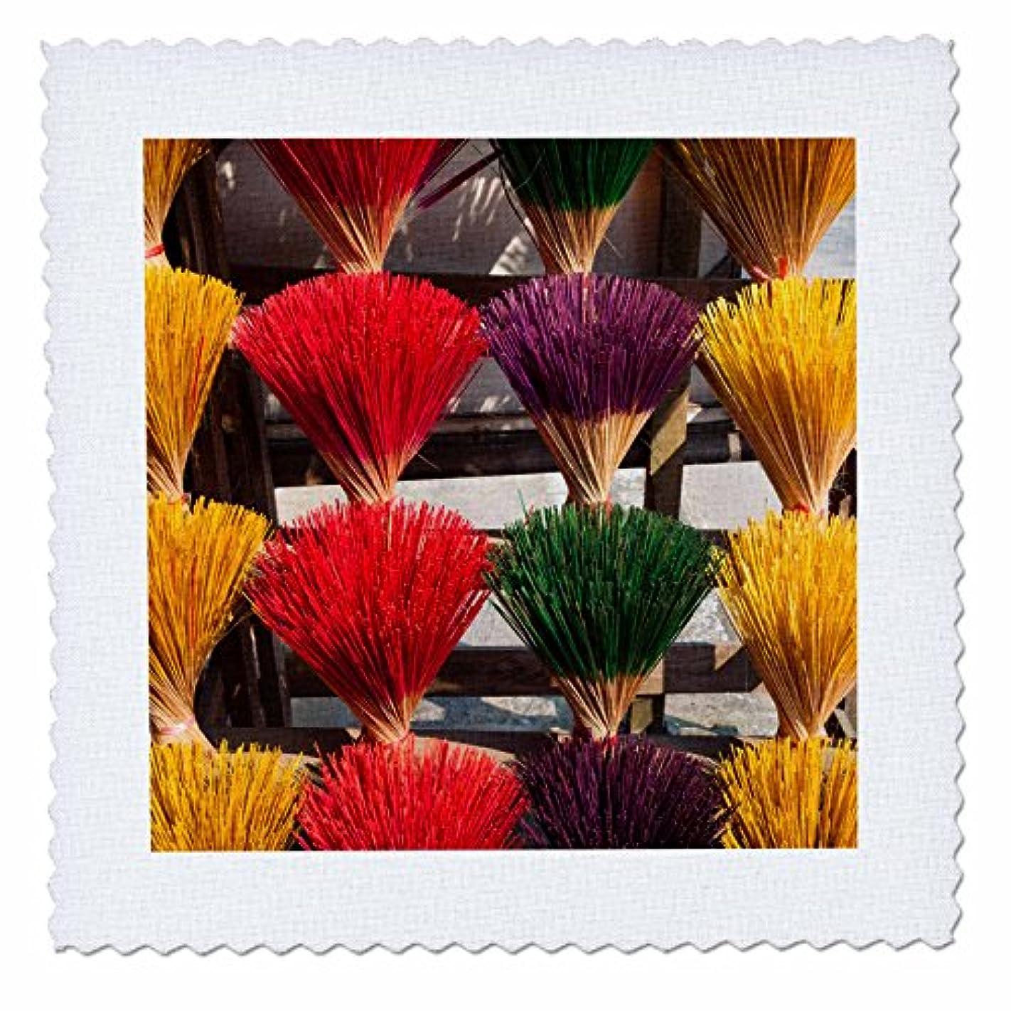 固体側面マインド3drose Danita Delimont – 市場 – ベトナム、色相。カラフルなIncense Sticks for Sale。 – キルト正方形 20x20 inch quilt square qs_257314_8