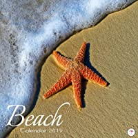 Beach Calendar 2019: Beaches 2019 Wall Calendar Mini 8.5 x 8.5 12 Month Colorful Beach Images
