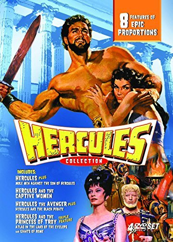 Hercules Collection [8 Film Box Set / Region 2 DVD] - Mole Men Against The Son Of Hercules / Hercules The Avenger / Hercules And The Black Pirate / Hercules And The Captive Women / Hercules Prisoner Of Evil / Hercules And The Princess Of Troy / Atlas In The Land Of The Cyclops / Giants Of Rome / [Steve Reeves, Mark Forest, Reg Park, Ettore Manni, Gordon Scott]