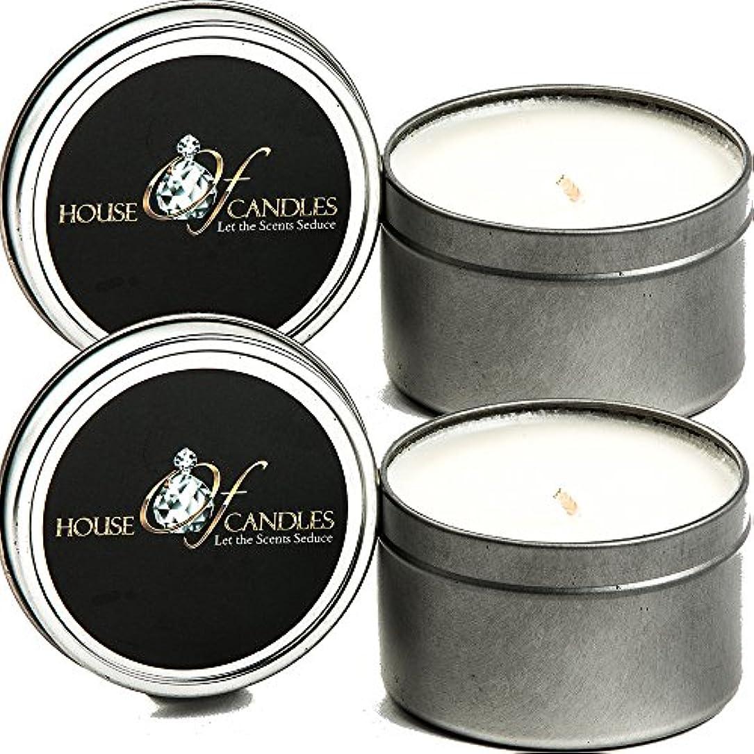 珍しい高さアジア人ラベンダー& Lemon Verbena x 2 Ecosoy Scented Candles – Tins – Vegan &虐待フリー