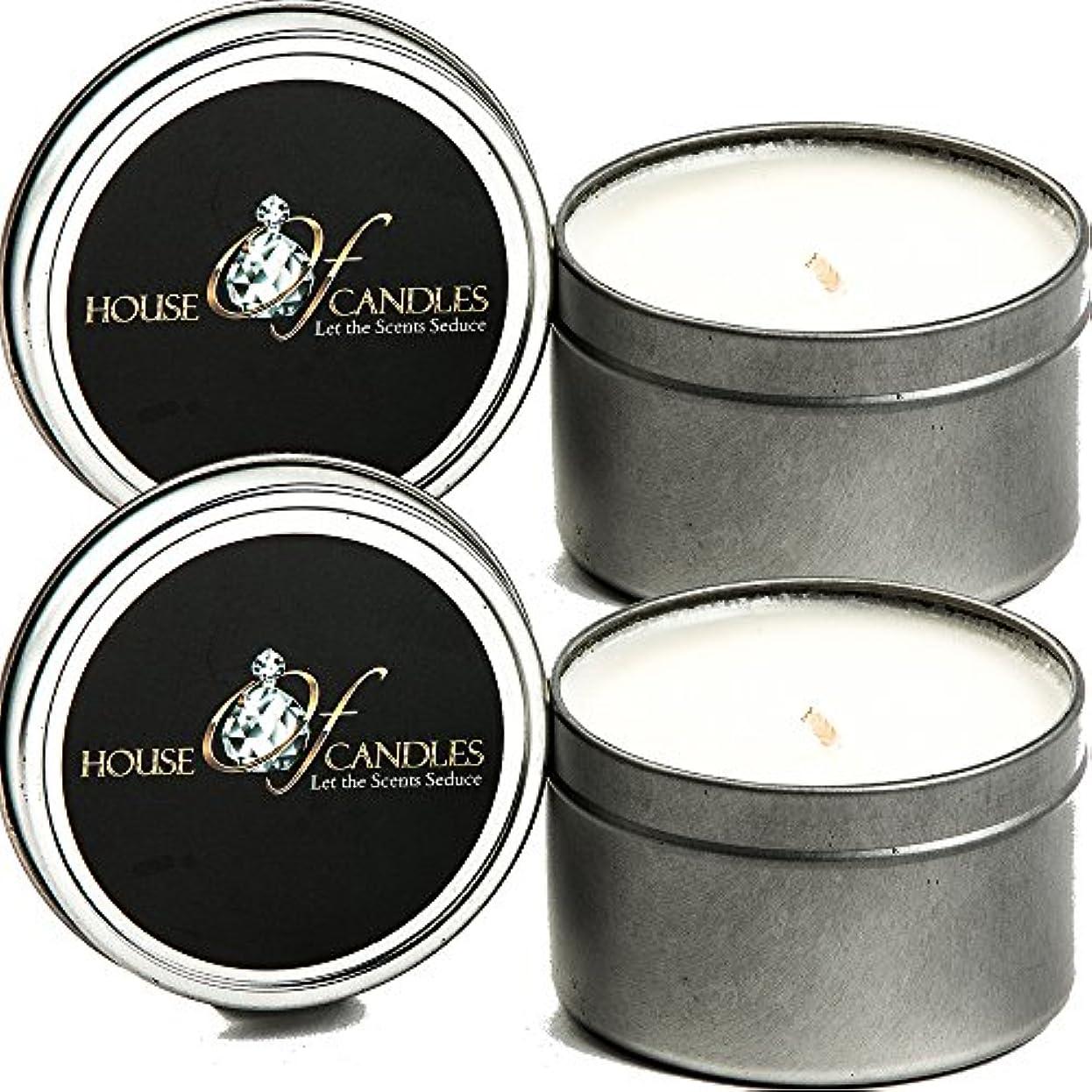 酸化する義務付けられたミキサークリスマスツリーX 2 Ecosoy Scented Candles – Tins – Vegan &虐待フリー