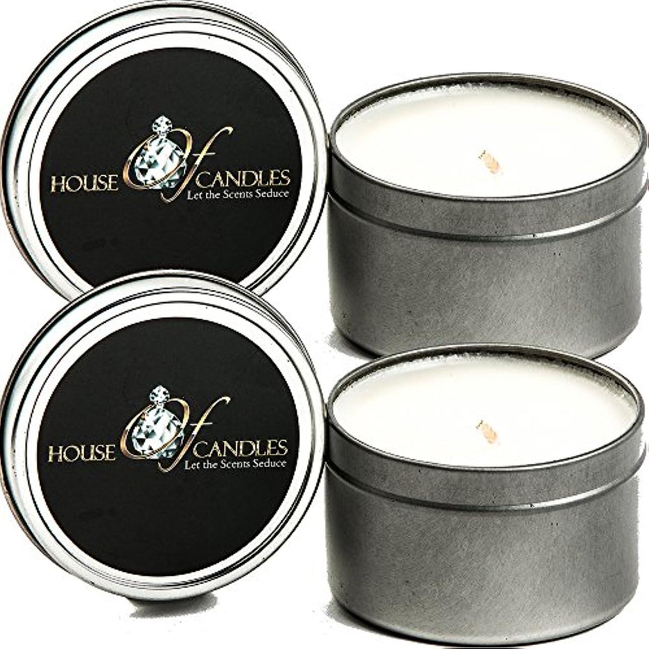 ラウンジ提供された畝間Bubblegum x 2 Ecosoy Scented Candles – Tins – Vegan &虐待フリー