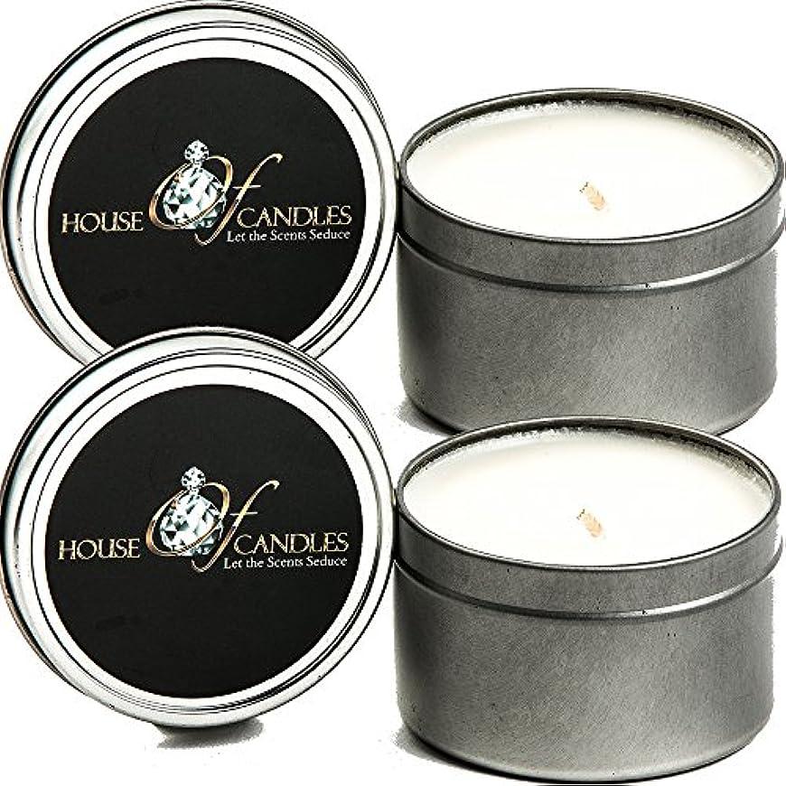 パドルビン毛布サンダルウッドCedar X 2 Ecosoy Scented Candles – Tins – Vegan &虐待フリー