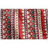 【ノーブランド品】 ボヘミアン テーブルランナー タッセル コットン テーブル クロス カバー マット 装飾 2色3サイズ選べる - 赤, 30*180cm
