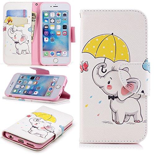 Lomogo iPhone6Sケース/iPhone6ケース 手帳型 耐衝撃 レザーケース 財布型 カ...