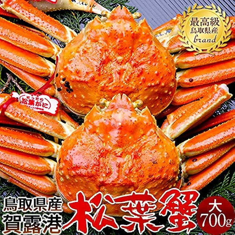 抽象化墓単位かに 松葉ガニ[大]700g×2尾 松葉蟹 ボイル ゆでがに 鳥取県産 ブランドタグ付きマツバガニ 日本海ズワイガニ