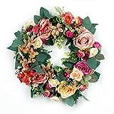 玄関ドア装飾用 フラワーリース 大花