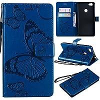 Xiaomi Redmi Note 5A ケース、Scheam 電話ケーススリム 横置きスタンド機能付き携帯電話ケース(Xiaomi Redmi Note 5A 専用)-Blue