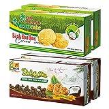 ベトナムお土産 ベトナムクッキー ココナッツ&コーヒー 2種4箱セット