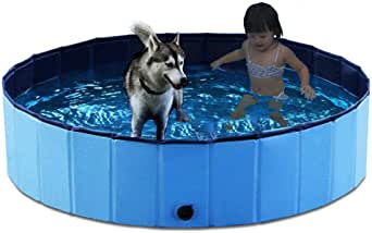 Ecoolda子供用プール ペット高級入浴用品 ペット風呂場 泳ぎプール夏 折り畳め式 犬、猫、子供にも適用 (30*120cm)