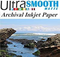 Ultrafine SmoothマットFineart 100%コットンRag Archival 320gsm 17milインクジェット用紙16x 20/ 50シートボックスc2s両面