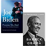 Promise Me Dad By Joe Biden & A Promised Land By Barack Obama 2 Books Collection Set