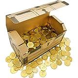 ベルギー産 コインチョコレート 2kg 宝箱付 イベント用 ミックス 業務用 大容量 プレゼント おうち縁日 お祭り