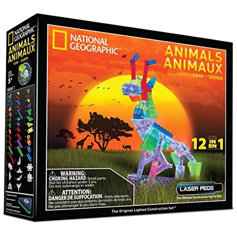 Laser Pegs 12 in 1 Animals Construction Set [並行輸入品]