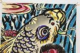 和凧[鯉と金太郎][登竜門凧][凧単品][装飾用凧]壁掛け可・正月飾りインテリア[高さ61.2cm][t12]