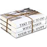 3 Piece Take Quote Decorative Book Set,Fashion Decoration Book,Real Blank Hardcover Book For Decor | Fashion Designer Quote B