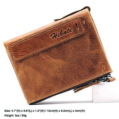BlueCosto Men Leather Wallet RFID Blocking Men's Wallets Coin Pocket Purse