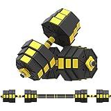 20KG Adjustable Dumbbell Pair, Dumbbell Combination Environmental Dumbbell Barbell for Strength Training, Weight Loss, Workou