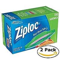 Ziploc Sandwich Bags (150 bags x 2 = 300 bags) by Ziploc