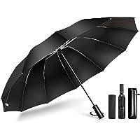【2020最新 頑丈な12本骨 逆折り式】 折りたたみ傘 ワンタッチ自動開閉 メンズ傘 108cm超大サイズ Teflo…