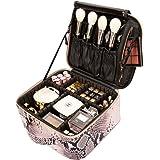 ROWNYEON Cobra Makeup Travel Case Makeup Bag Organizer Serpentine Portable Professional Artist Snake Makeup Train Case Waterp