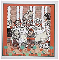 TNMGraphics子–Tea Party with Dolls–グリーティングカード Set of 12 Greeting Cards